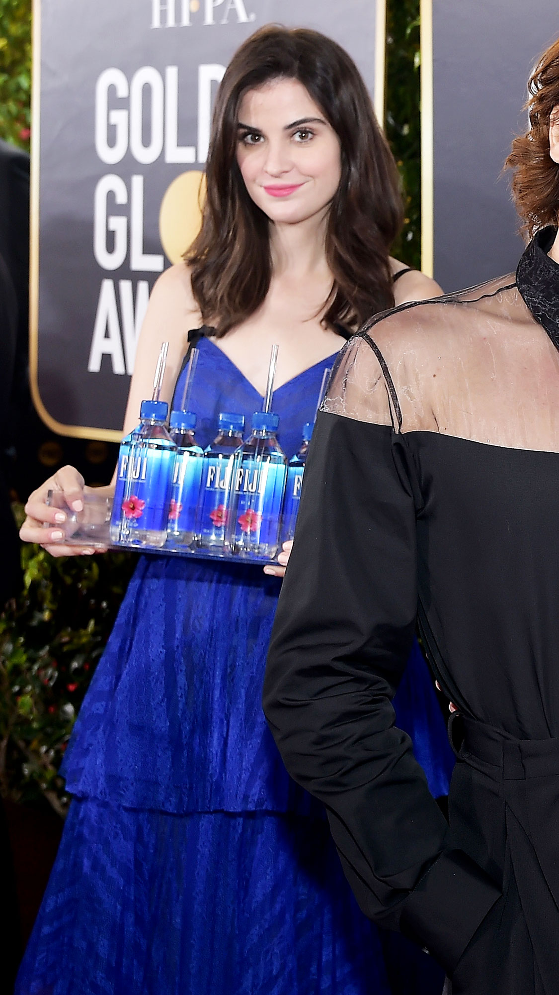 Kelleth Cuthbert fiji water girl golden globes 2019 Who Is Kelleth Cuthbert? 5 Things to Know About the Fiji Water Girl