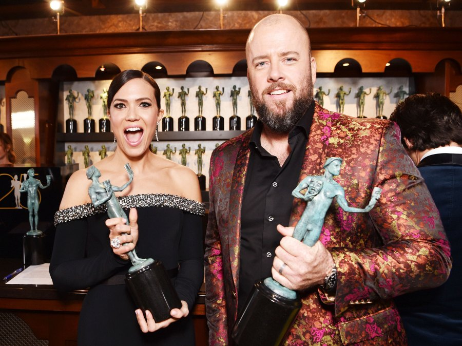 SAG Awards 2019 Inside Photos Mandy Moore Chris Sullivan