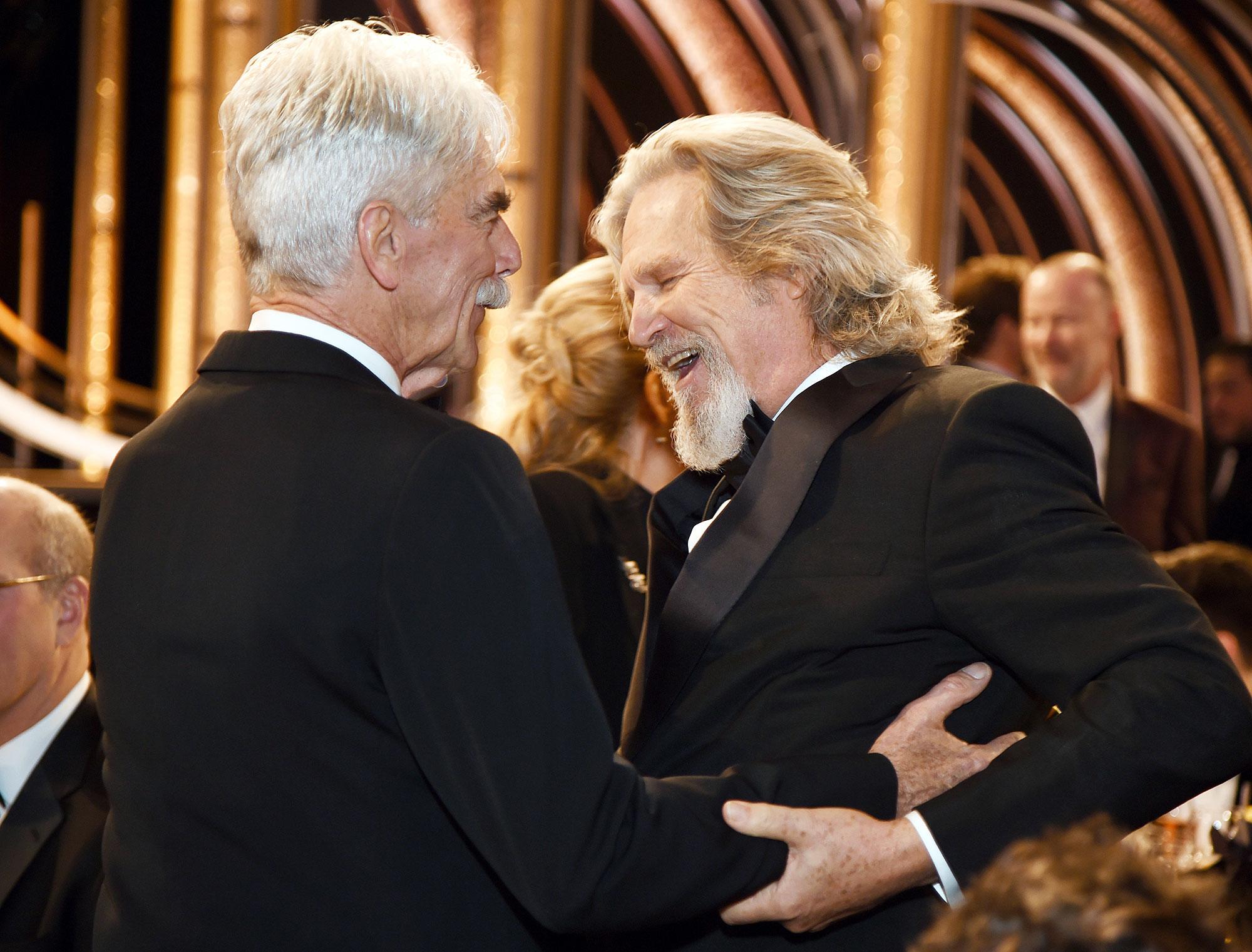 Inside Golden Globes 2019 Sam Elliott Jeff Bridges - Sam Elliott and Jeff Bridges had a Big Lebowski reunion 20 years later.