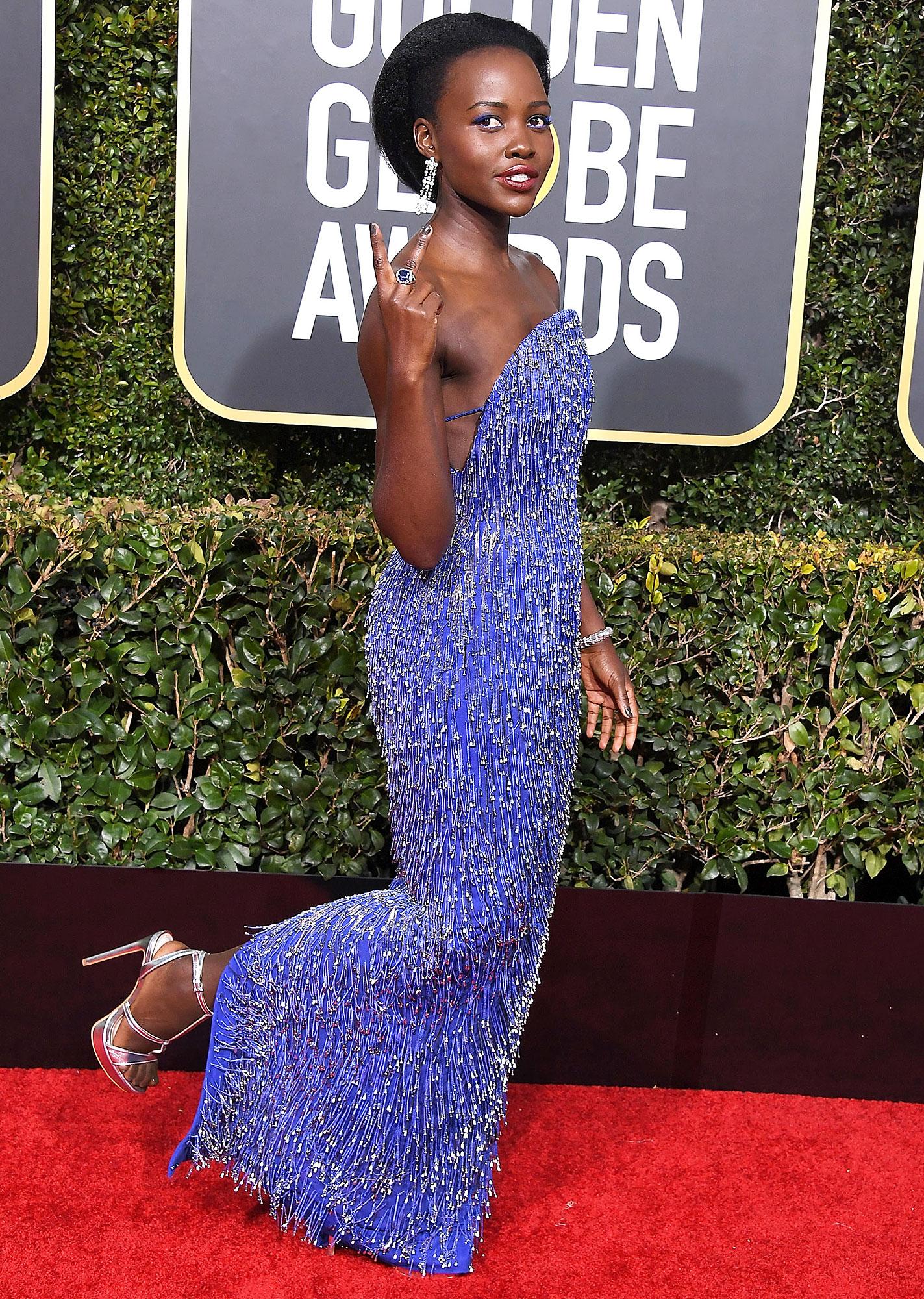 Shop Lupita Nyong Golden Globes 2019 Shoes