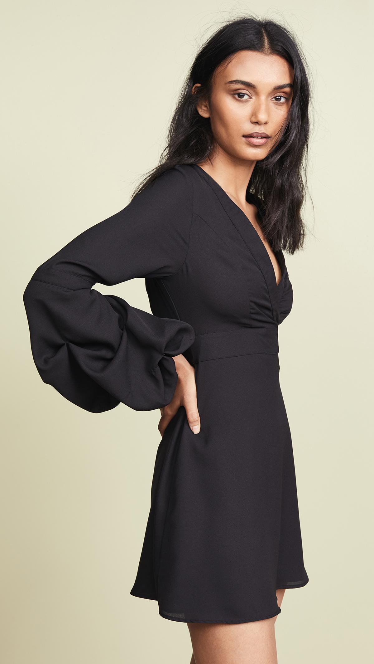 Shopbop Balloon Sleeve Dress Side