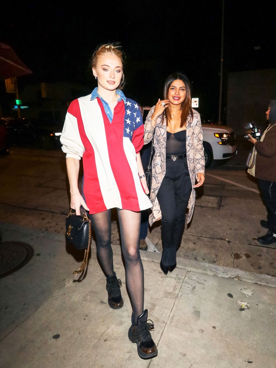 Sophie Turner Has a Pantless GNO With Priyanka Chopra