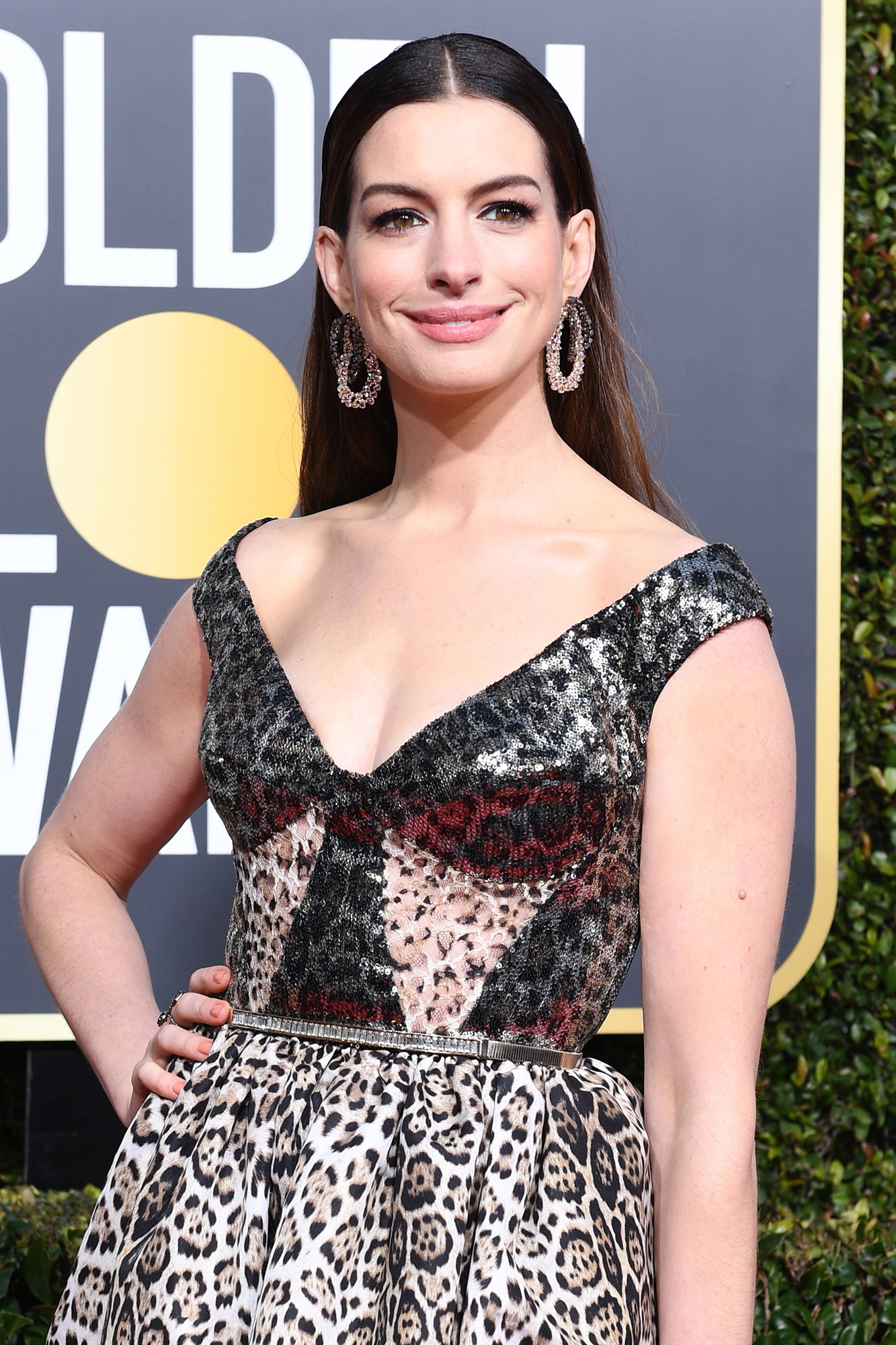 Stars With Anxiety: Celebs Open Up About Their Struggles and What Helps Them - Anne Hathaway arrives for the 76th annual Golden Globe Awards on January 6, 2019, at the Beverly Hilton hotel in Beverly Hills, California.