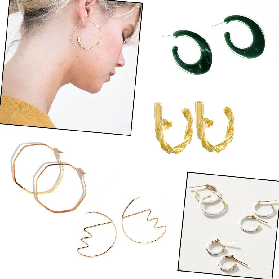 Sustainable hoop earrings