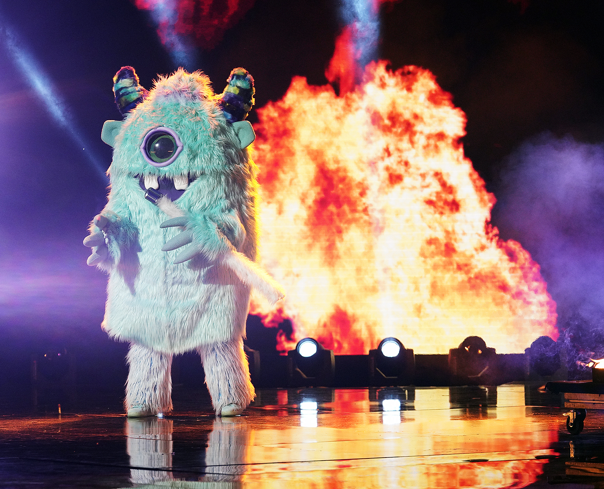 """THE-MASKED-SINGER-Monster - The final performance of the night was the monster, who had said that he was """"labled"""" as a monster and was trying to rewrite his past. Many guessed T-Pain , since he had legal trouble in 2018 and used auto-tune."""