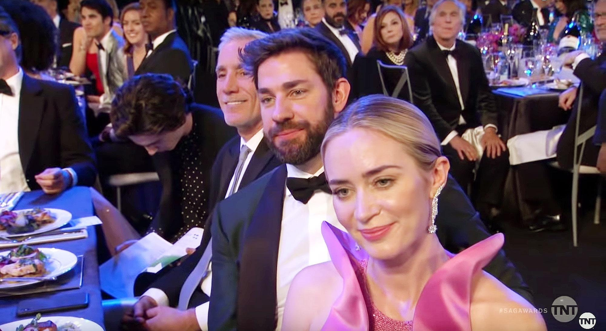 Timothee Chalamet Caught Reading SAG Awards 2019 During Opening Monologue