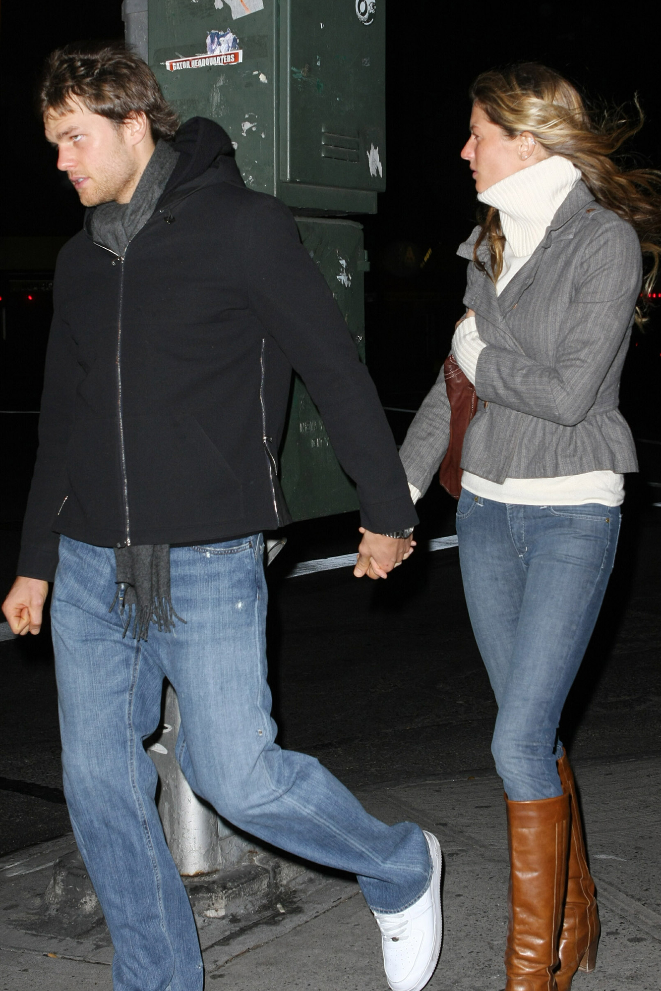 Tom Brady and Gisele Bundchen: A Timeline of Their Relationship - The twosome faced their first public relationship roadblock in February 2007 after news broke the football player was expecting a child with his ex-girlfriend Bridget Moynahan. (Brady and Moynahan dated from 2004 to 2006.)