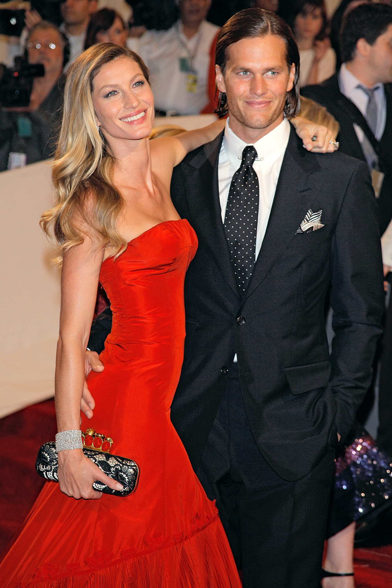 """Tom Brady and Gisele Bundchen: A Timeline of Their Relationship - Two months into their marriage, the duo threw a second wedding in Costa Rica. """"The thing about it is, the day's for you,"""" Brady told GQ in November 2009 about the couple's decision to only invite family to their weddings."""