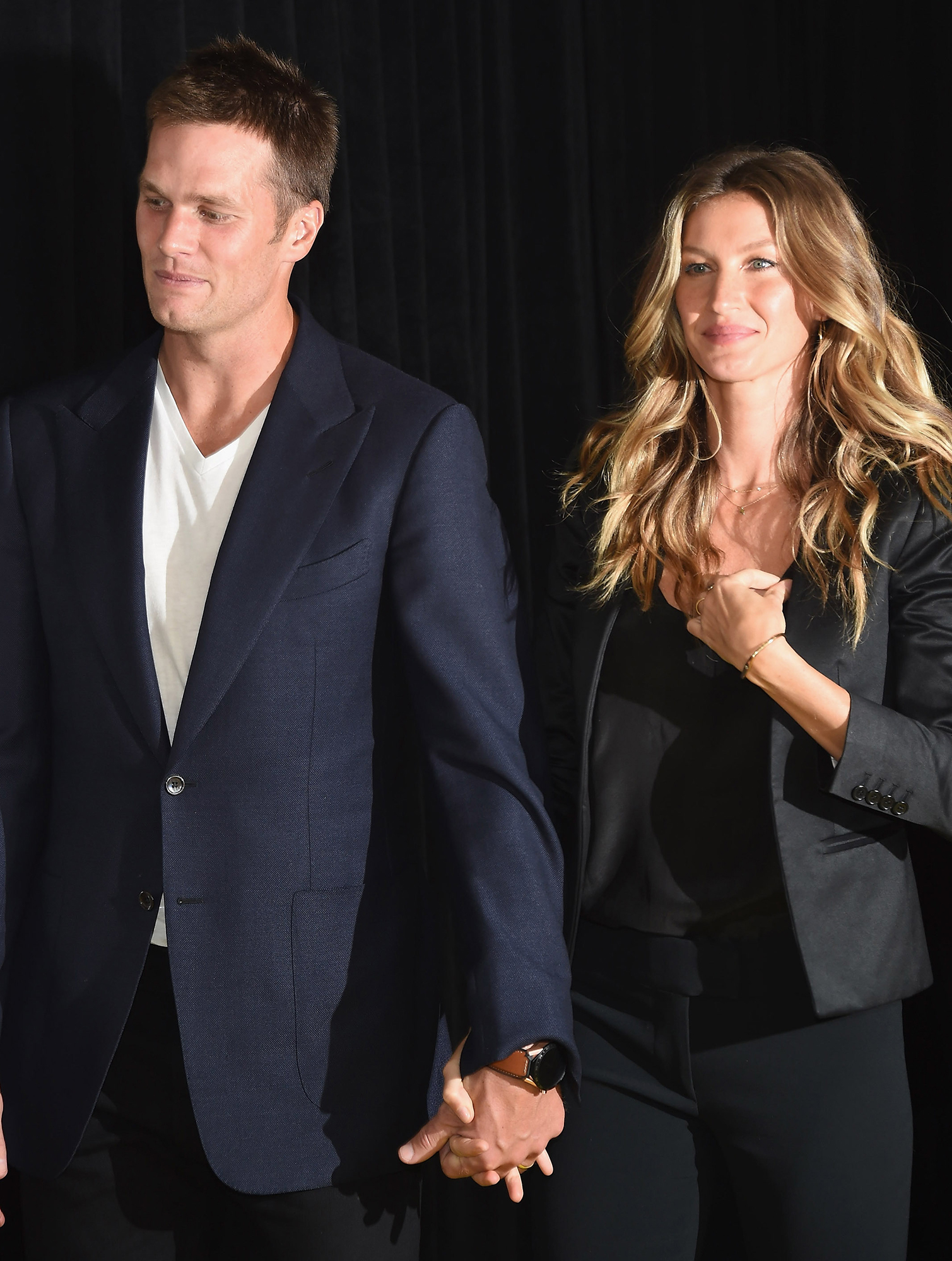 """Tom Brady and Gisele Bundchen: A Timeline of Their Relationship - A source told Us in September 2015 that things were """"very tense"""" between Brady and Bündchen after deflategate, an NFL controversy revolving around accusations that Brady ordered the deflating of footballs in the AFC Championship Game in the 2014-2015 NFL playoffs. Brady addressed the marriage troubles later that month."""