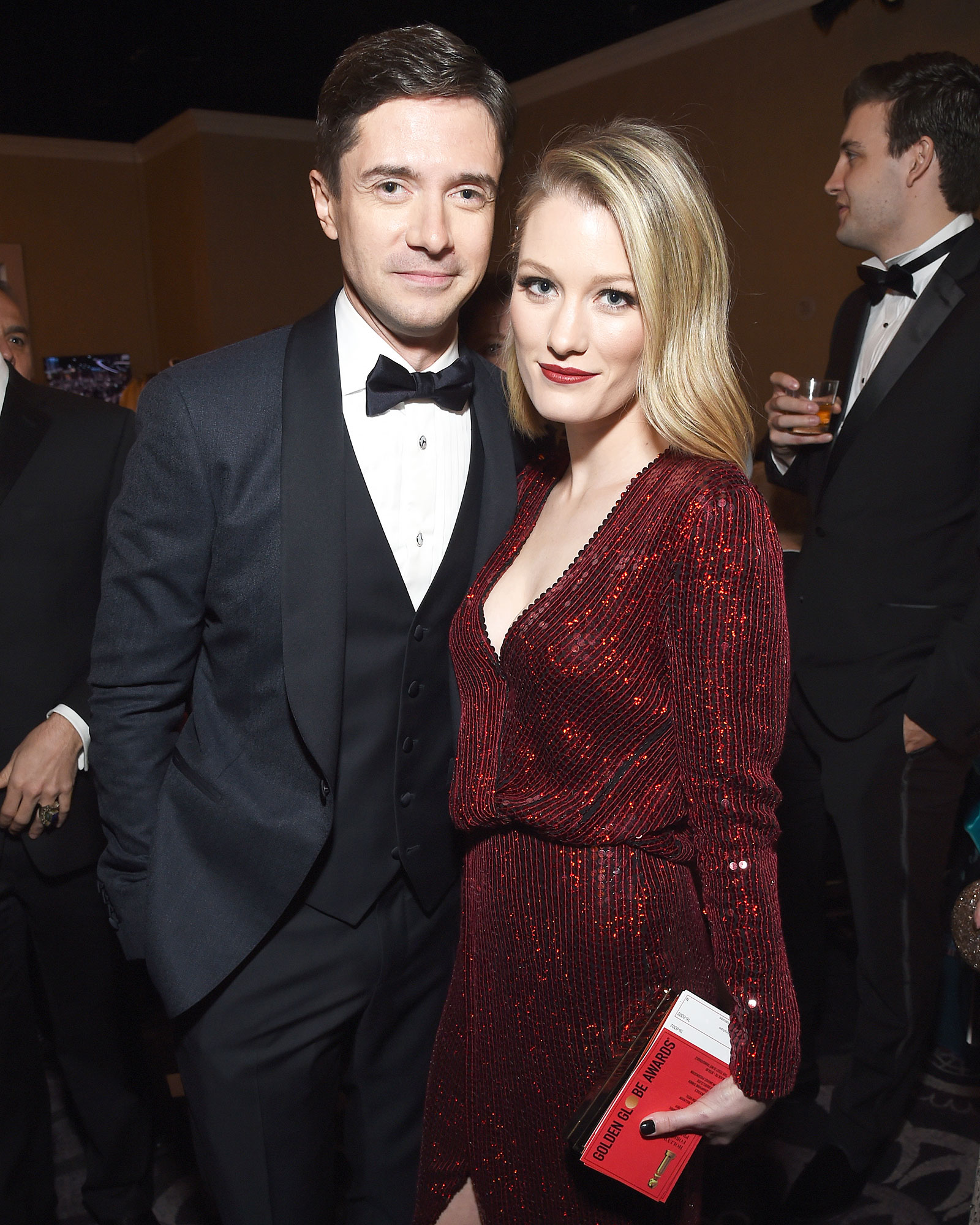 Inside Golden Globes 2019 Topher Grace Ashley Hinshaw - Topher Grace and Ashley Hinshaw enjoyed a rare outing with the stars. Photo Editor: Liz Abts