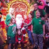 Tori Spelling Dean Liam Stella Hattie Finn and Beau celebrated Christmas Santa Clause December 2018