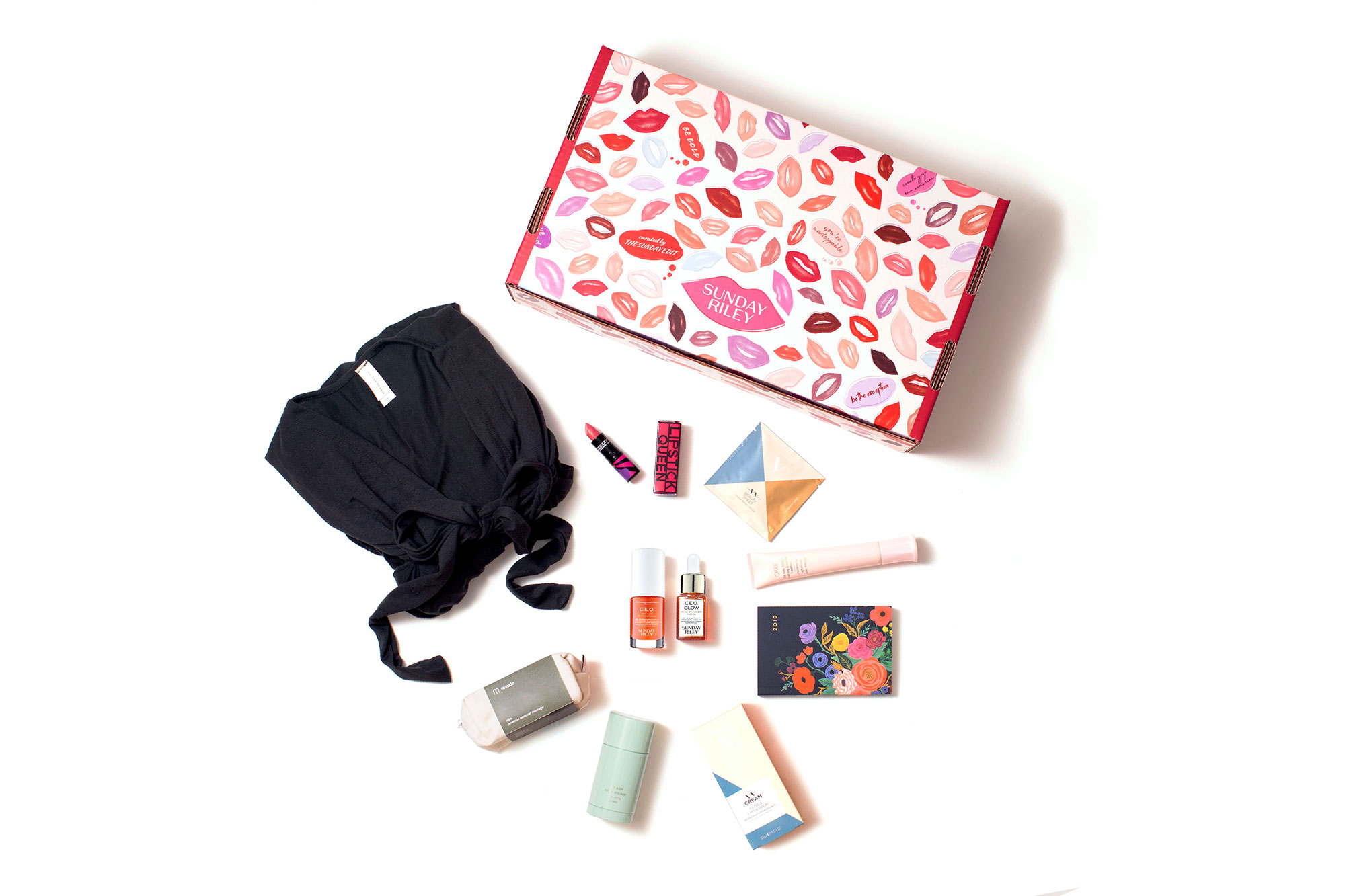Valentine's Day Gift Guide 2019: Beauty and Fashion Ideas for the Lady in Your Life - There is so much to love about the skincare brand's curated beauty box that includes a full-size bottle of the soon-to-be released C.E.O Glow Vitamin C + Turmeric Face Oil, in addition to a Lipstick Queen lippie, Rifle Paper Co. agenda book, Oribe scalp treatment and more. $95, sundayriley.com beginning February 7