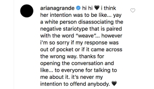 ariana-grande-comments-weave