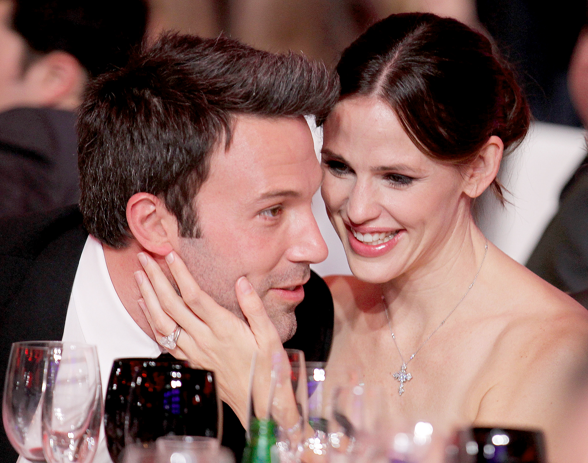 ben-affleck-jennifer-garner - Garner and Affleck worked together on 2001's Pearl Harbor and 2003's Daredevil before they went public with their relationship in October 2004. The Justice League actor proposed in April 2005, and the couple wed in June 2005.