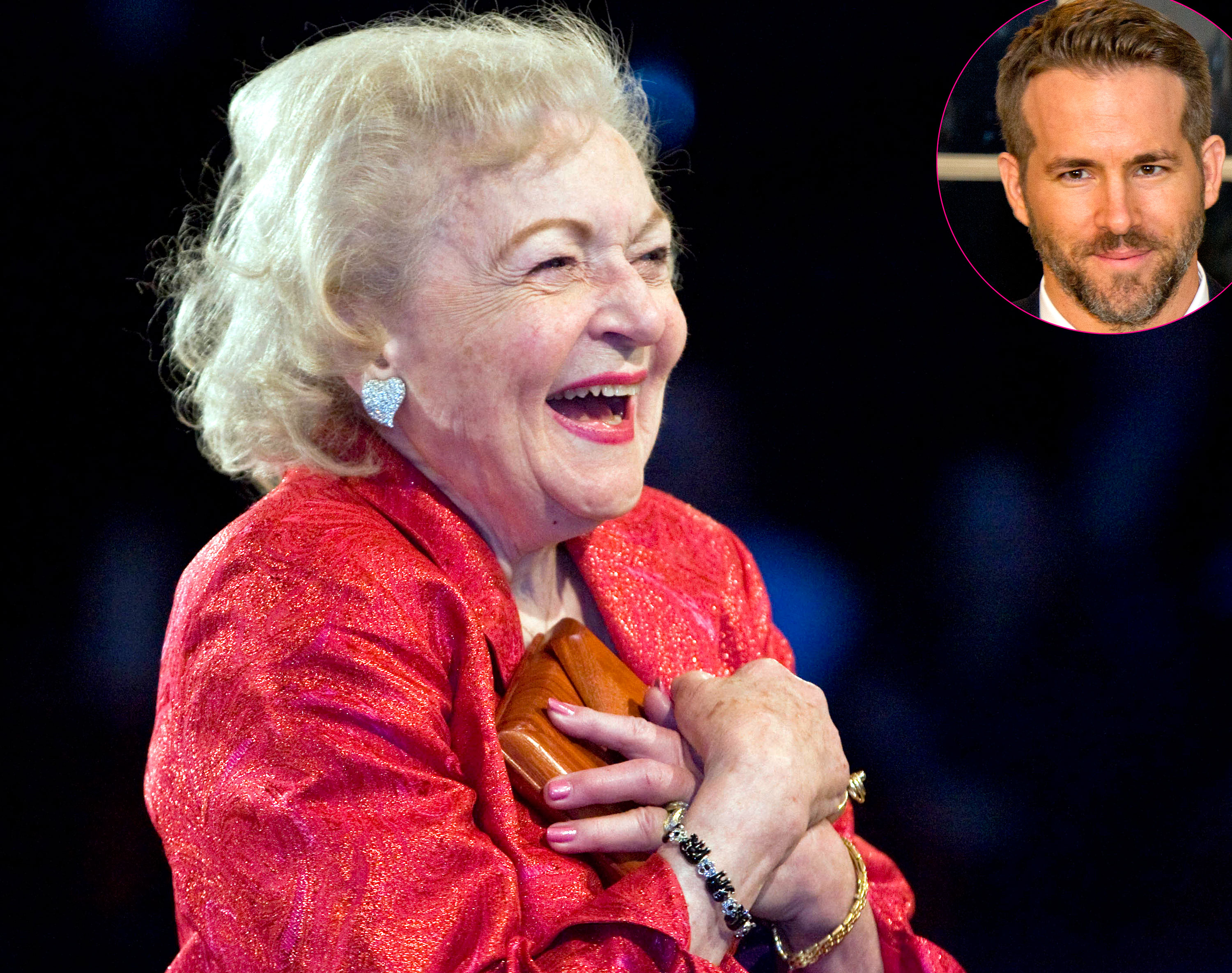 Ryan Reynolds and More Celebs Wish Betty White Happy Birthday - Betty White and Ryan Reynolds.