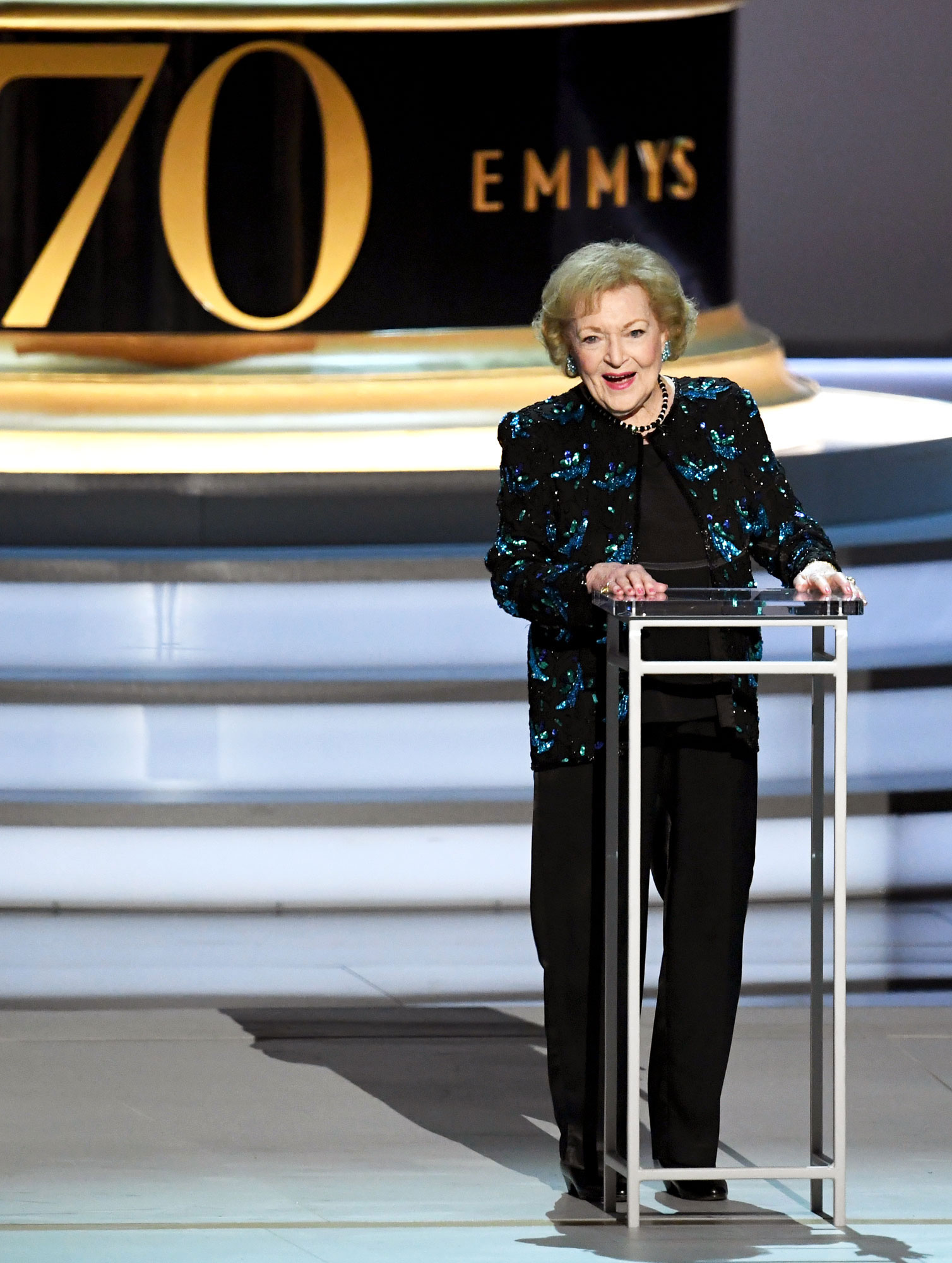 "Betty White's Best Moments - The then-96-year-old was honored at the 2018 Emmy Awards for being one of the oldest winners in the awards show's history. ""Little did I dream then that I would be here and it's incredible that I'm still in this business, that you're still putting up with me,"" she said during her speech at the September 2018 ceremony."