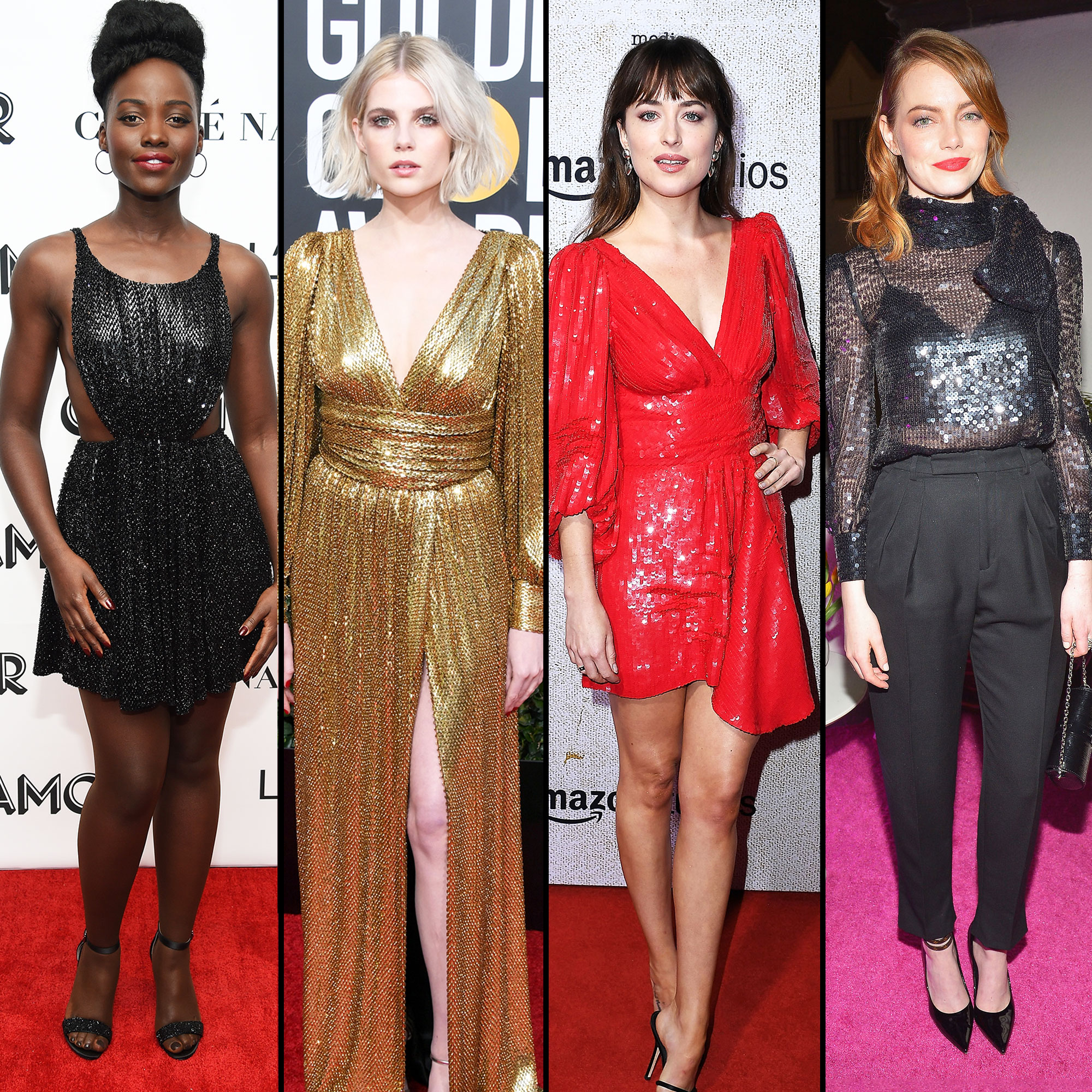 Lupita Nyong'o, Lucy Boynton, Dakota Johnson and Emma Stone - Lupita Nyong'o, Lucy Boynton, Dakota Johnson and Emma Stone