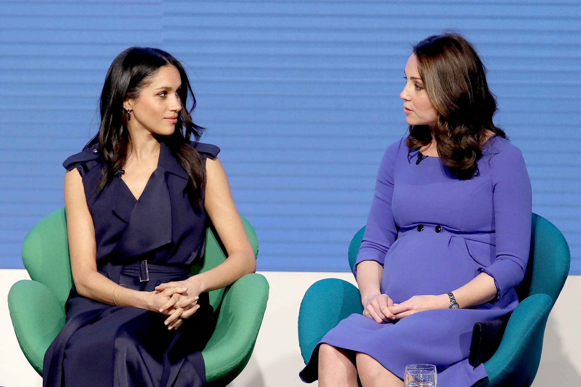 duchess-meghan-duchess-kate-feud - Reports first surfaced in November 2018 that sisters-in-law Kate and Meghan were not getting along. Speculation increased after the former actress and Harry decided to move from London to Windsor, which is further away from the Duke and Duchess of Cambridge's home in Kensington Palace.