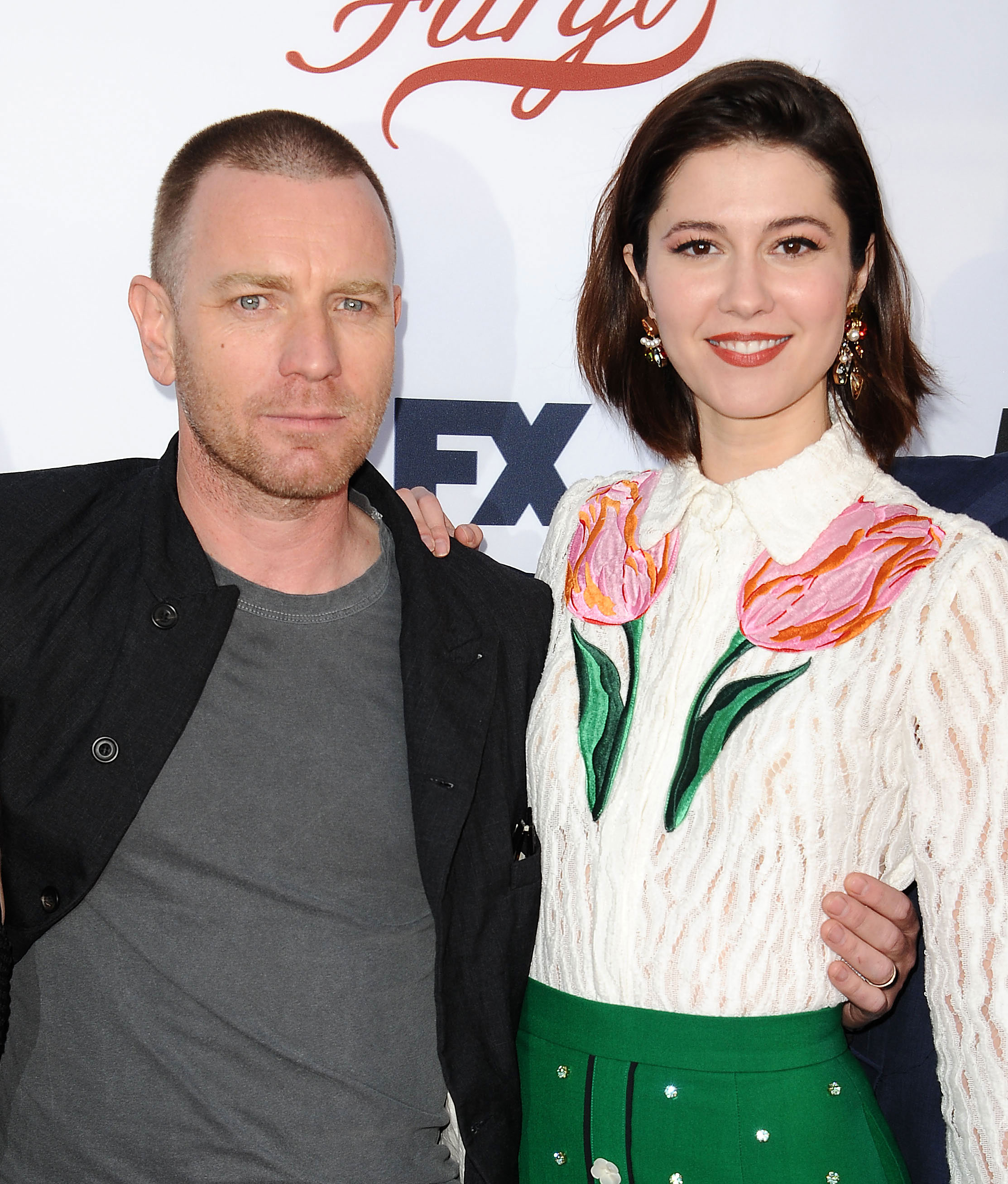 """Ewan McGregor's Daughter Clara Calls Him an 'A--hole' for Leaving Her Mom Eve Mavrakis - Ewan McGregor and Mary Elizabeth Winstead attend the """"Fargo"""" For Your Consideration event at Saban Media Center on May 11, 2017 in North Hollywood, California."""