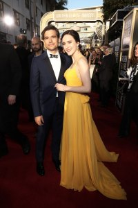 Jason Ralph and Rachel Brosnahan arrive to the 76th Annual Golden Globe Awards 2019