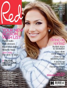 Jennifer Lopez on the cover of 'Red Magazine'