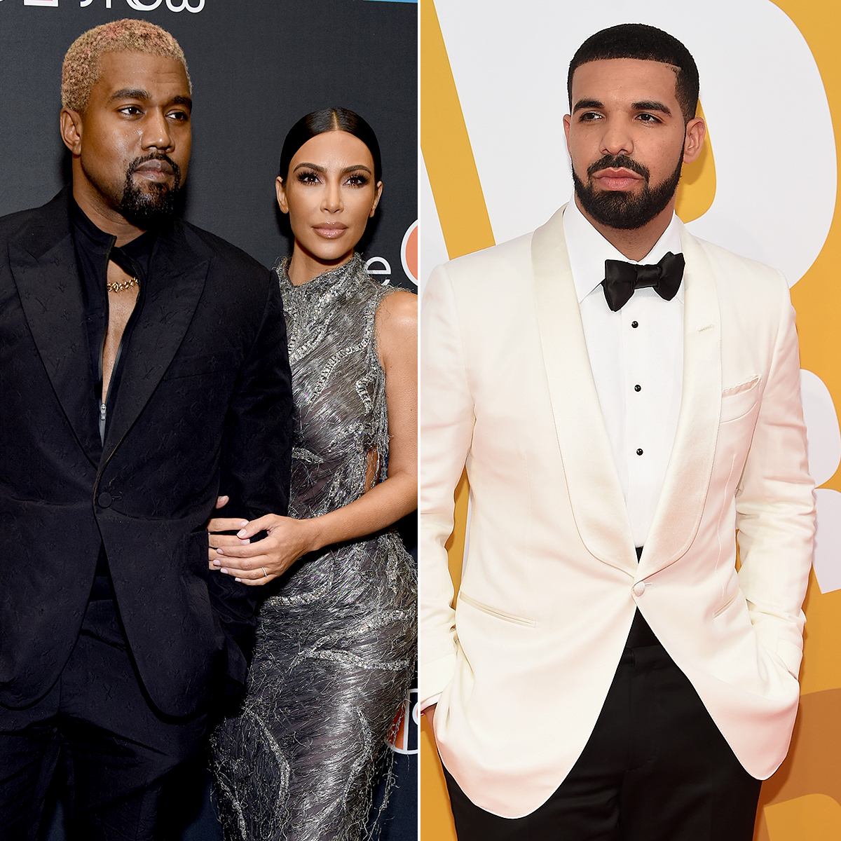 """kanye-west-kim-kardashian-drake - West was infuriated in December 2018 when he found out Drake was following his wife on Instagram. """"I never knew till this morning that Drake followed my wife on Instagram back in September. I had to bring this up because it's the most f—ked up thing of all and I just saw it this morning. Imagine having a problem with somebody and they follow your wife on Instagram,"""" he ranted in a series of since-deleted tweets."""