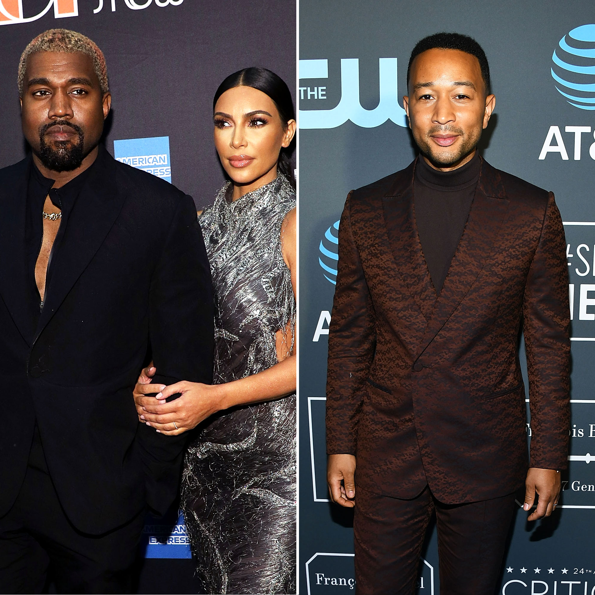 Kim Kardashian and Kanye West Pre-Gamed John Legend's 40th Birthday With Doughnuts - Kanye West, Kim Kardashian and John Legend