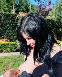 Kat Von D breastfeeding baby instagram