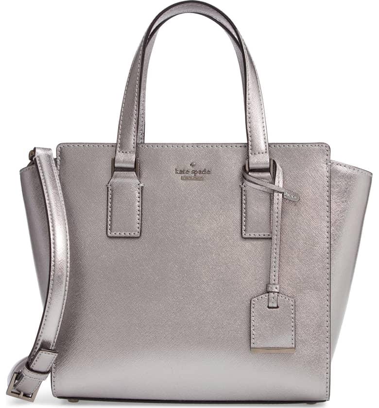kate spade metallic leather satchel