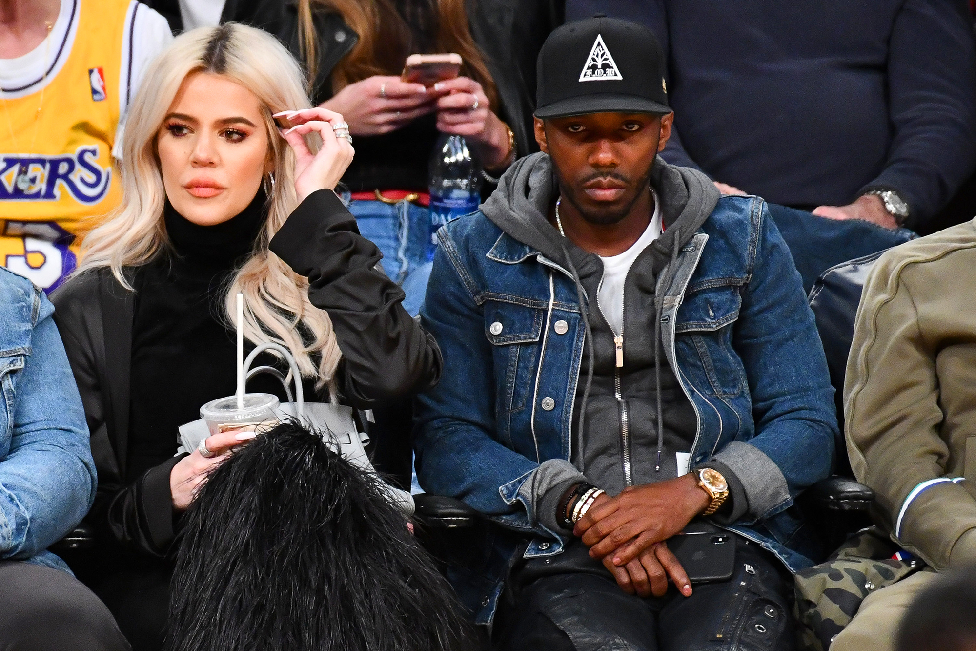 """Khloe Kardashian Supports Beau Tristan Thompson Courtside at Cleveland Cavaliers Game - The Good American founder sipped a beverage as she watched her boyfriend of more than two years score 15 points and rack up 14 rebounds. A source told Us Weekly last month that the pair — who stayed together despite Thompson's infidelity — """"are trying for another baby."""""""