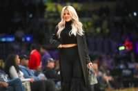 Khloe Kardashian Supports Beau Tristan Thompson Courtside at Cleveland Cavaliers Game