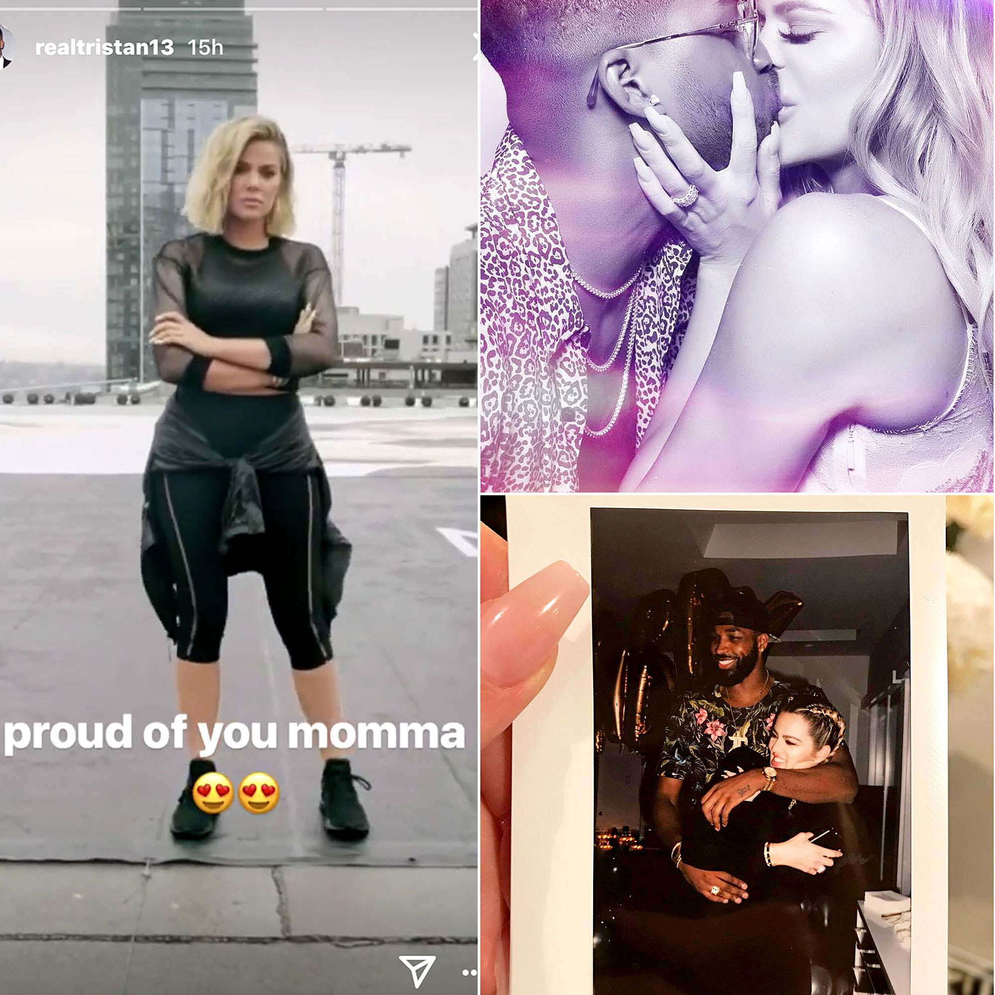 """Tristan Khloe Flirt Social Media - Ever since his affairs with multiple women made headlines in April 2018, Tristan Thompson has been making his affection for girlfriend Khloé Kardashian a matter of public record. [ami-related id=""""728487"""" url=""""https://www.usmagazine.com/celebrity-news/news/khloe-kardashian-and-tristan-thompsons-relationship-timeline-w505561/"""" title=""""Khloe Kardashian and Tristan Thompson: A Timeline of Their Relationship"""" target="""""""" inset=""""true""""] In fact, the athlete has posted a series of flirty Instagram comments directed at Kardashian, with whom he shares daughter True ."""