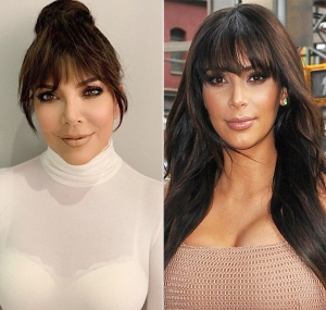 kris jenner looks just like kim bangs