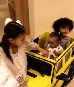 Kourtney Kardashian Gifts Chicago West a Mini Neon Mercedes G-Wagon to Match Kim's