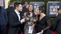 Rami Malek Awkwardly Reunites With Former Costar Francia Raisa During Golden Globes 2019 Interview