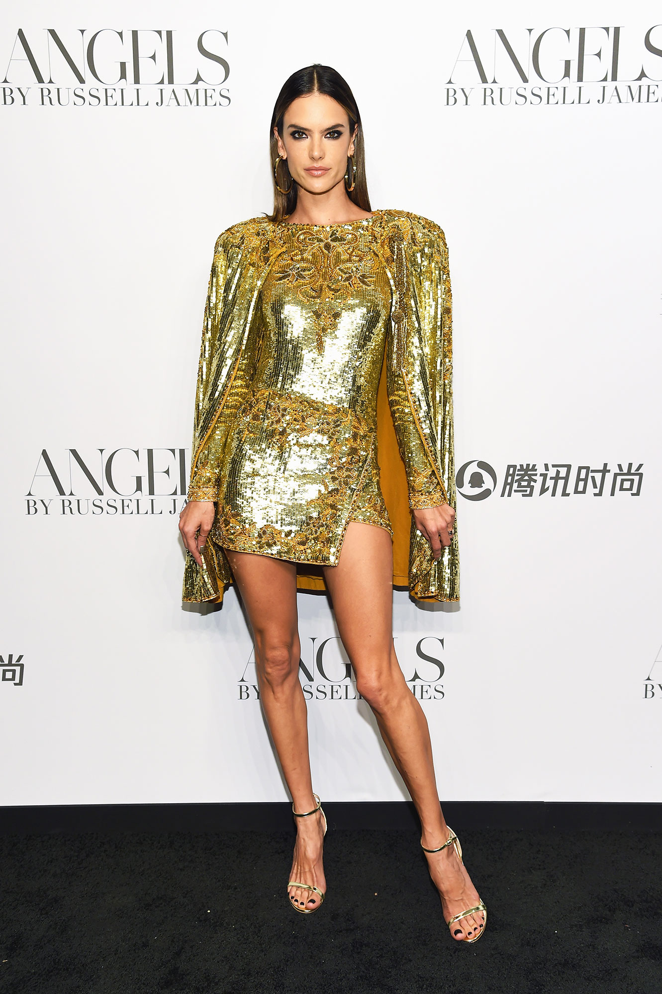 Alessandra Ambrosio - In silk-and-sequined Dundas on Sept. 6.