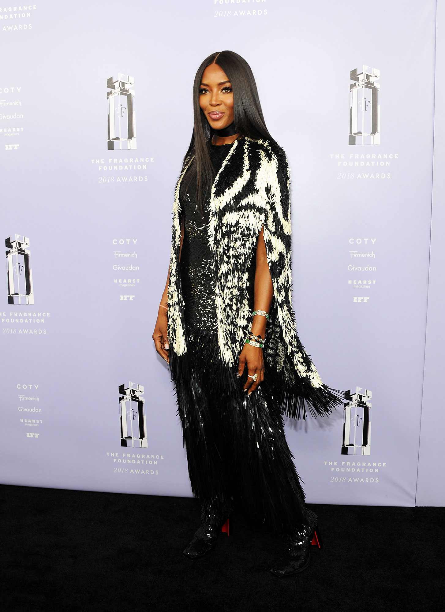 Naomi Campbell - In fringed Alexander McQueen on June 12.