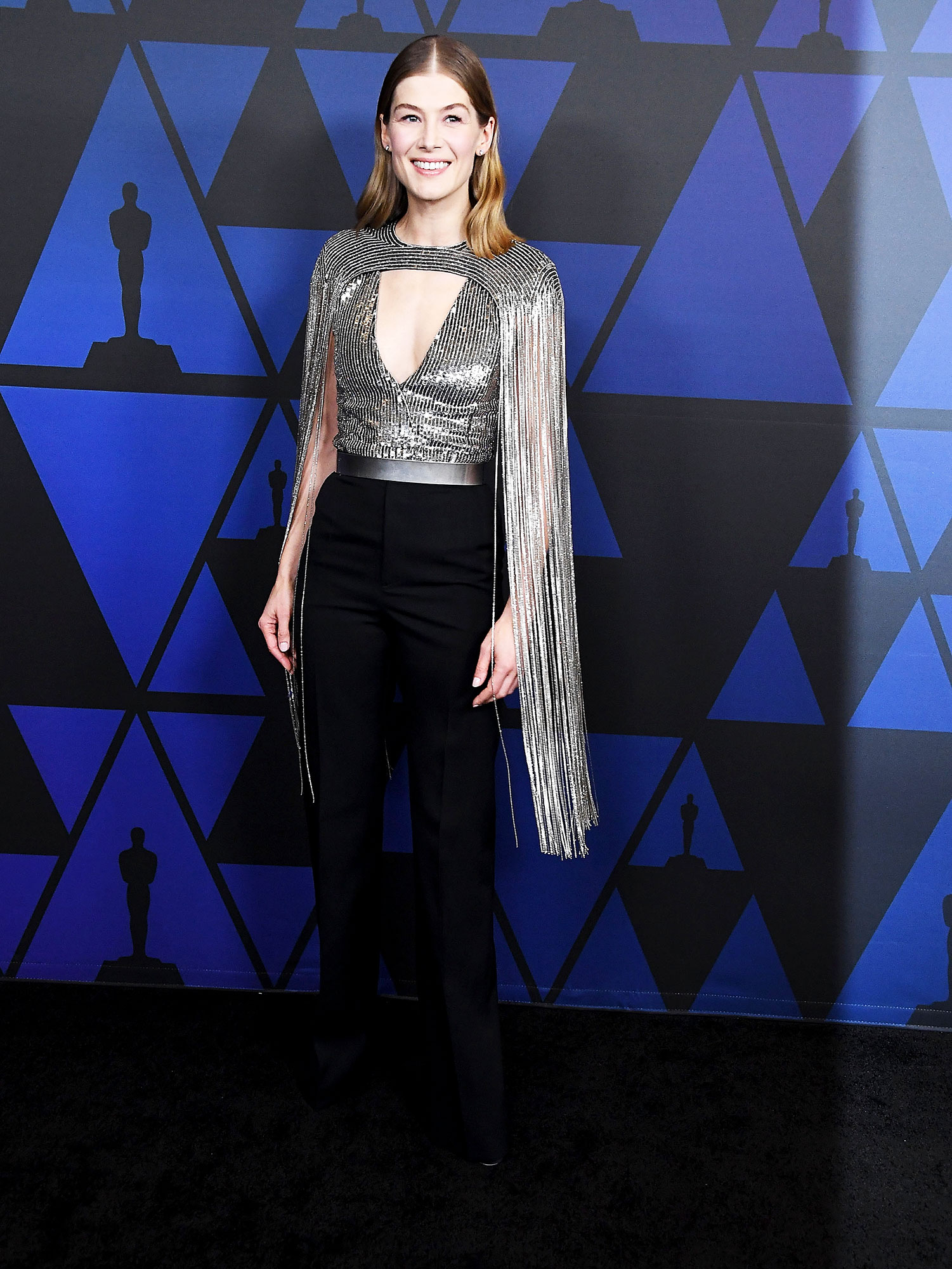 Rosamund Pike - In sequin-and-crystal Givenchy on Nov. 18.