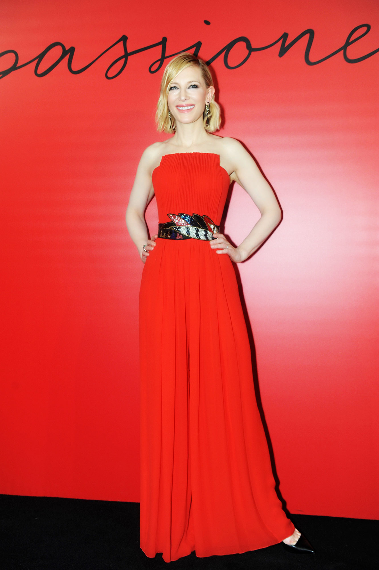 red carpet gallery for Stylish - Red Cate Blanchett - In a silk Giorgio Armani jumpsuit on Nov. 6.