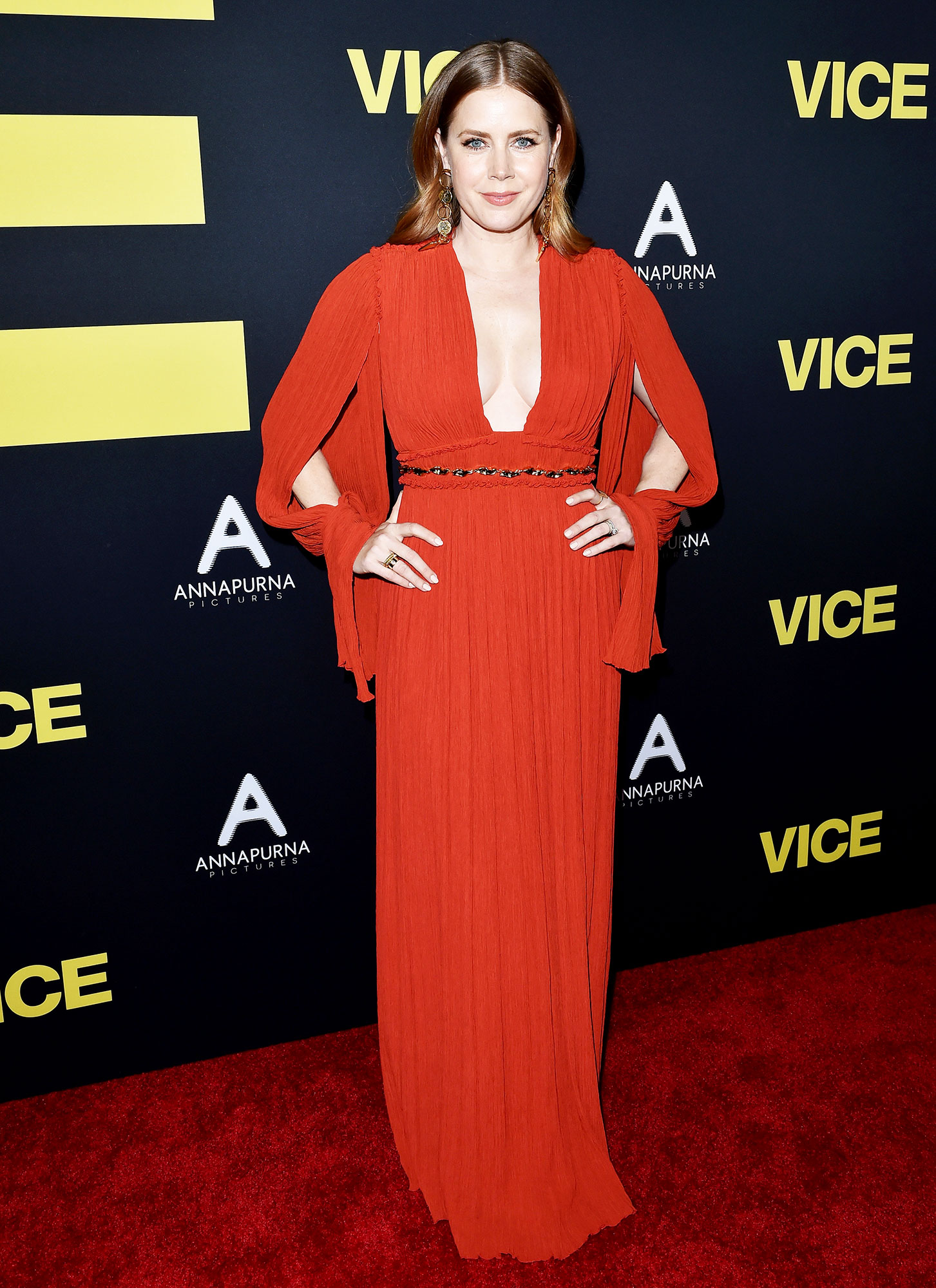 red carpet gallery for Stylish - Red Amy Adams - In a bespoke pleated Chloé on Dec. 11.