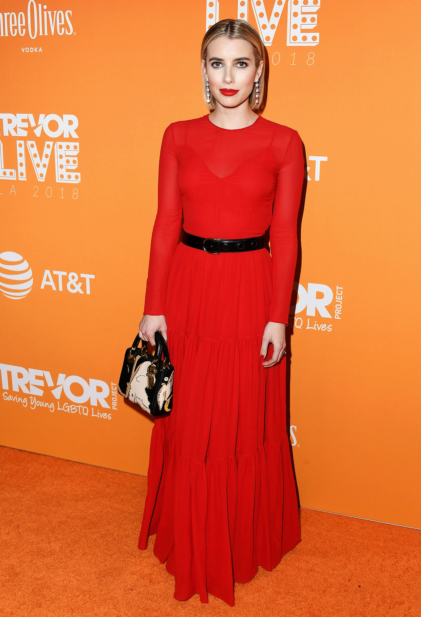 red carpet gallery for Stylish - Red Emma Roberts - In Dior by Maria Grazia Chiuri on Dec. 2.