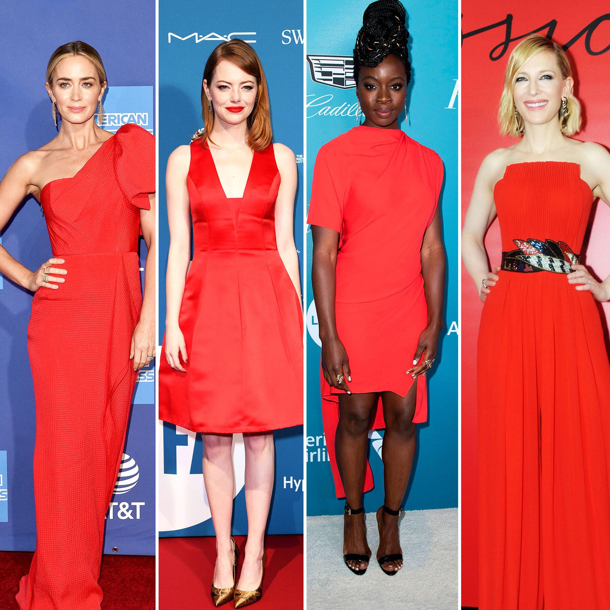 red carpet gallery for Stylish - Red - Emily blunt, Emma stone, Danai Gurira and Cate Blanchett