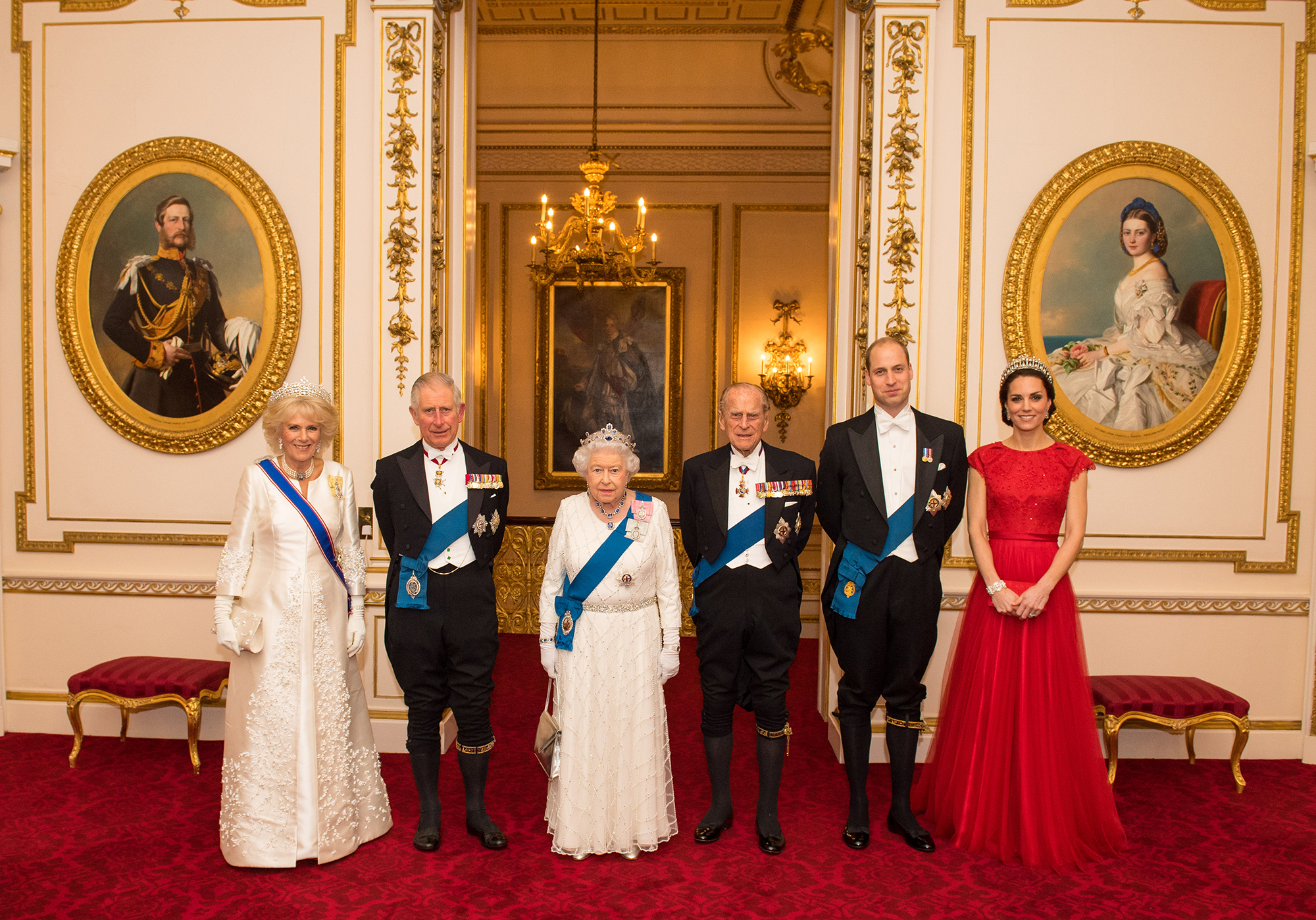 Royal Family Food Facts - LONDON, UNITED KINGDOM – DECEMBER 8: (L-R) Camilla, Duchess of Cornwall, Prince Charles, Prince of Wales, Queen Elizabeth II, Prince Philip, Duke of Edinburgh, Prince William, Duke of Cambridge and Catherine, Duchess of Cambridge arrive for the annual evening reception for members of the Diplomatic Corps at Buckingham Palace on December 8, 2016 in London, […]