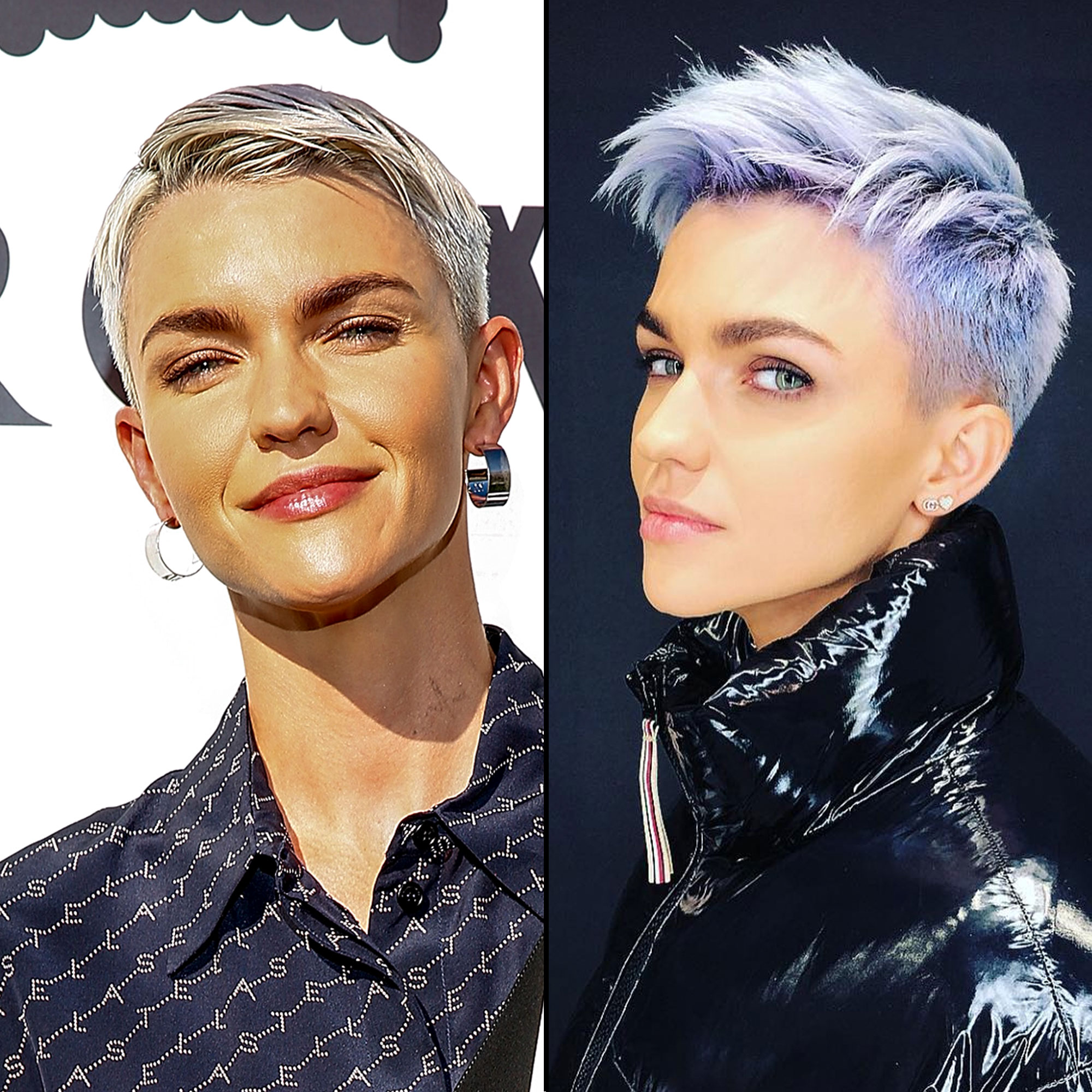 Ruby Rose - After starting off the year with a silvery hue, the Pitch Perfect 3 star has embraced the pastel tress trend with a new violet shade. Celeb hairstylist Riawna Capri shared on Instagram that she used Joico Color Intensity in Lilac with a bit of Violet Pearl to create the multi-dimensional hue that is one of many the fearless actress has sported over the years.