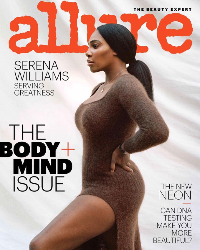Serena Williams on How Alexis Ohanian Captured Her Heart: 'He Doesn't Try to Dim My Light' - Serena Williams on the cover of Allure magazine's 'The Body & Mind' issue.