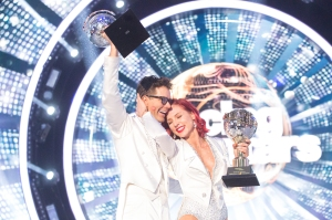 Bobby Bones and Sharna Burgess on 'Dancing with the Stars.'
