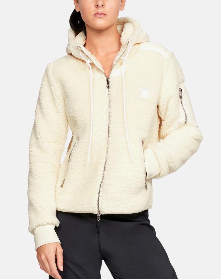 underarmour sherpa jacket white
