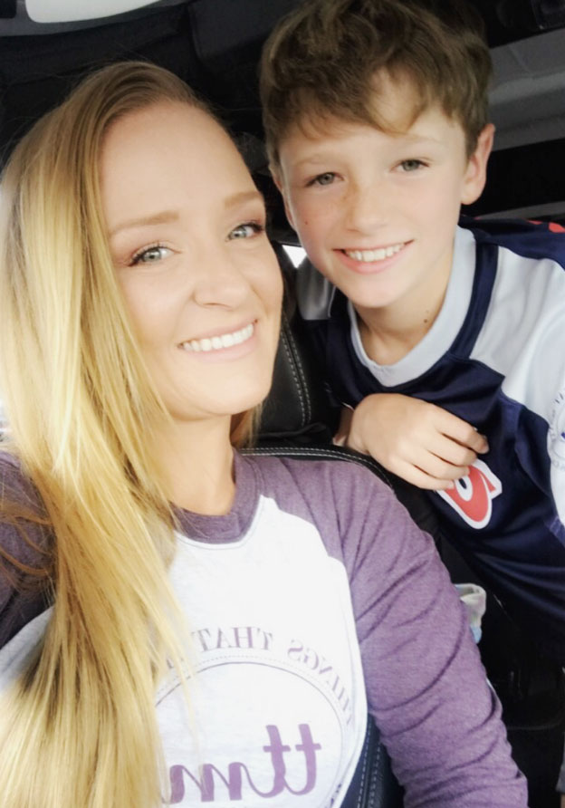 """Teen Mom OG Tots: How They've Grown - """"Benny is growing up too fast,"""" the I Wasn't Born Bulletproof author wrote on Instagram when her son started the fourth grade."""