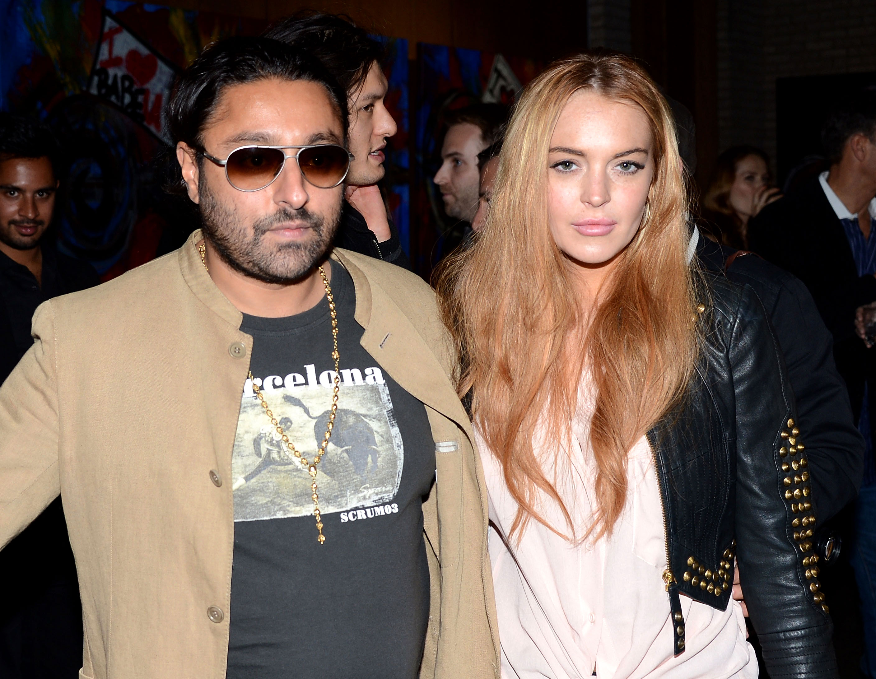 Lindsay Lohan love life gallery - The hotelier, another of Lohan's reported flings, was spotted going out to dinner with the actress in New York City in 2013.