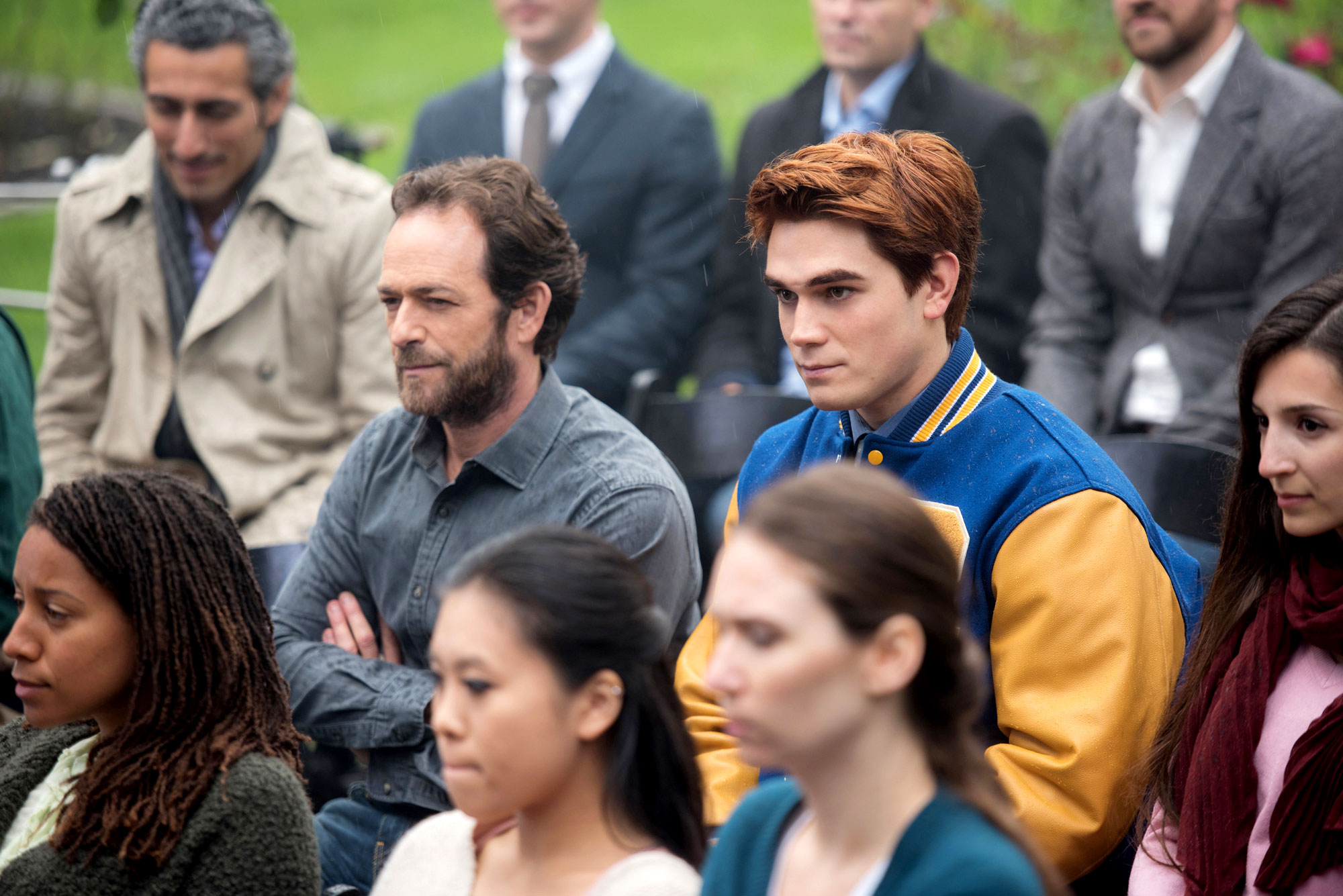 Luke Perry Through the Years - Perry returned to TV in January 2017 as Fred Andrews, the father of iconic comic book character Archie Andrews, on The CW's Riverdale .